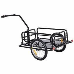 Aosom Folding Bike Cargo Trailer Cart with Seat Post Hitch-