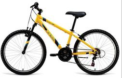 "Sync Frequency 24"" Hardtail Boys Mountain Bike Yellow 18 Spe"