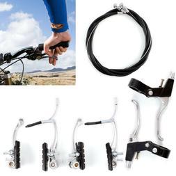 FRONT & REAR Bike MTB Hybrid V Brake Set & Levers & cables s