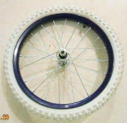 FRONT PURPLE GIRL'S/YOUTH BICYCLE 16 X 1.95 RIM & WHITE TIRE