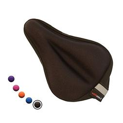 LuxoBike Gel Bike Seat Cover Pad – Extra Soft Padded Gel B