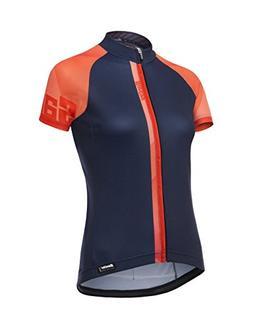 Santini Women's Giada Jersey, Orange, Large