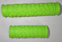 GREEN OFF SET CLOSED-ENDED BICYCLE GRIPS BIKE PARTS 578-2