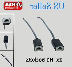 694772952225 2x H1 H3 Ceramic Socket Headlight Bulb Holder R