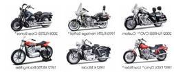 Harley Davidson Motorcycle 6pc Set Series 30 1/18 by Maisto