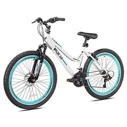 "26"" Women's Kent KZR Mountain Bike, White/Teal, 21-speed Shi"