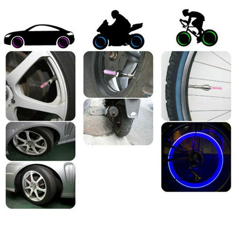 1 INDIVIDUAL LED CAP bike valve Light Tyre