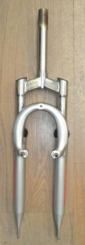 """XL VORTEX 24"""" SILVER BICYCLE SUSPENSION FORK BIKE PARTS 452-"""