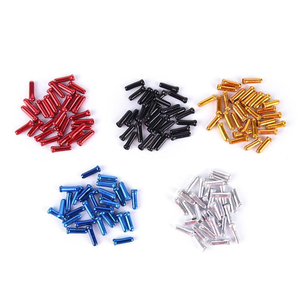 30PCS <font><b>End</b></font> Cap <font><b>Cable</b></font> Parts Aluminum MTB Line Core Cover Gear