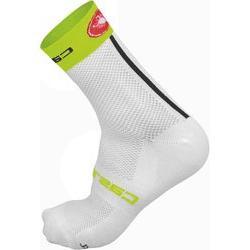 Castelli Free 9 Sock White/Lime, S/M - Men's