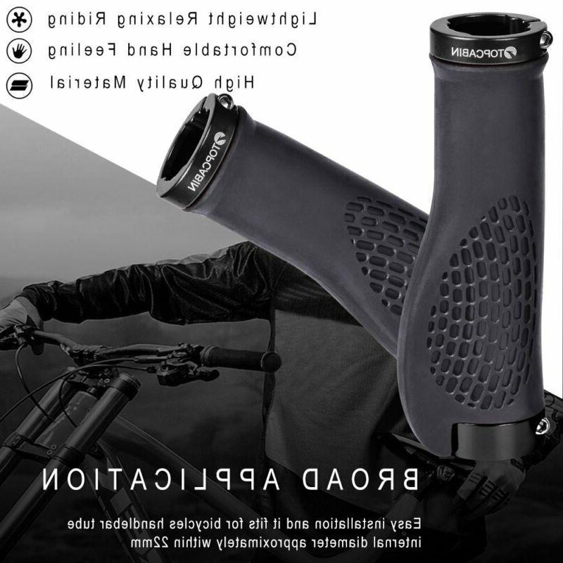 TOPCABIN Bike Grips,Ergonomic Design Bicycle Widen Surface Rubber