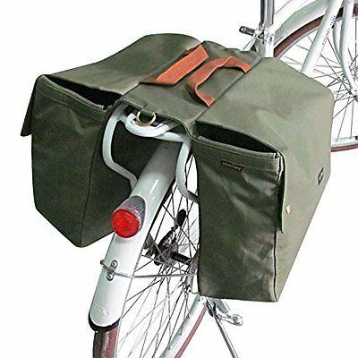 Tourbon Canvas Bike Bags Rear Rack Roll-up Bicycle Panniers