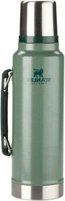 Stanley Classic Vacuum Insulated Bottle: Hammertone Green, 1