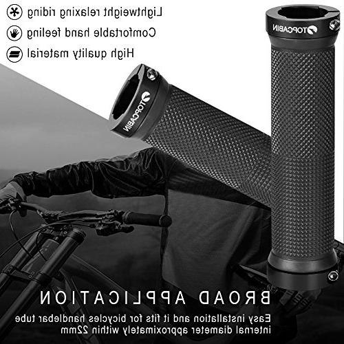 TOPCABIN Double Locking Bicycle Handlebar Grips Cycle Bicycle Mountain Bike BMX