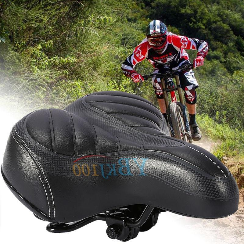 Extra Wide Soft Comfort Sporty Bicycle Saddle Spring Cushion