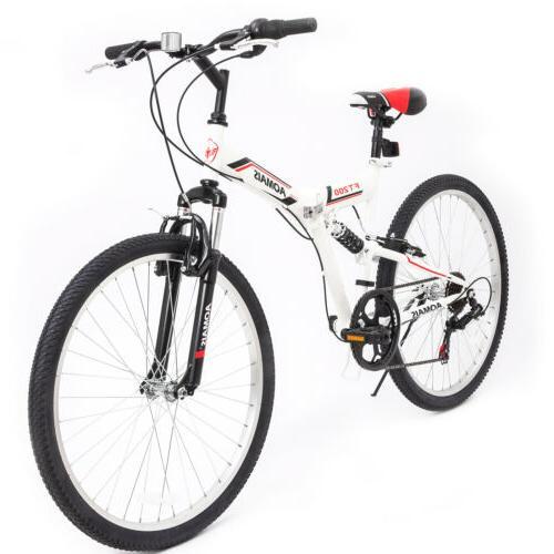 "20"" Folding Bike 6 Speed Bicycle Foldable Storage Shimano Sc"