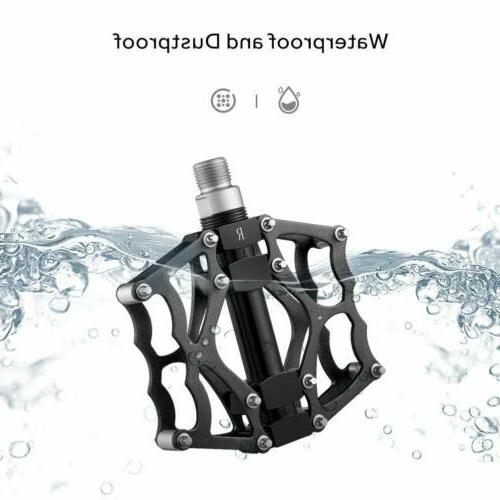Road Platform Pedals Flat Aluminum Sealed Bearing