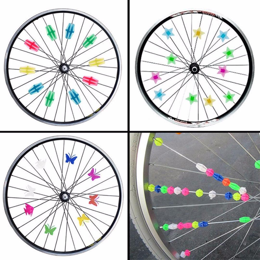 Beads Bicycle Wheel Multi Spoke Children Kids Clip Bicycle