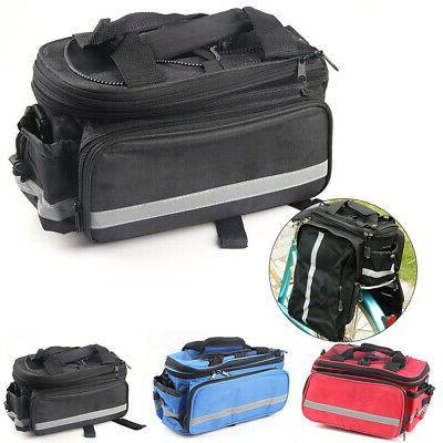 Nylon Cycling Rear Rack Seat Bag MTB Pannier Bag Shoulder Ba