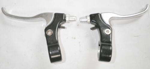 pair of all metal bicycle black silver