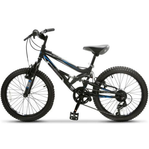 "Rocker 20"" Mountain Bike 7 Speed Bicycle Shimano Hybrid Susp"