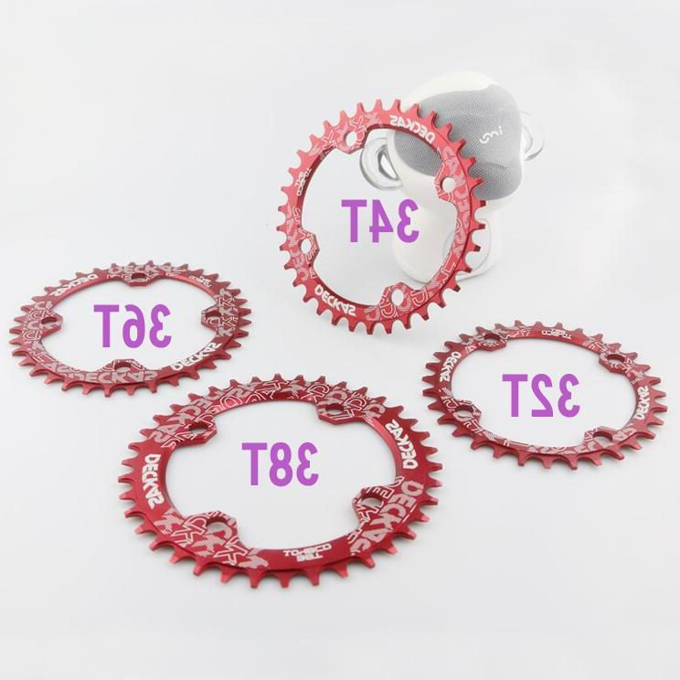 Deckas Round Wide Chainring MTB bike <font><b>bicycle</b></font> 104BCD 32T 36T 38T Tooth plate 104