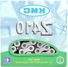 "KMC Z410 Chain Silver & Black 1/8"" Bike Chain BMX Single-Spe"