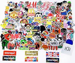 iDi Laptop Stickers 100 pcs Waterproof Vinyl SUPREME Car Sti
