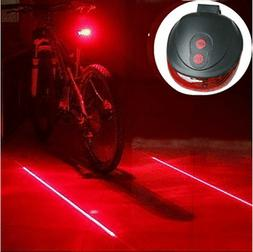 DELED® 5 LED 2 Laser Cycling Bicycle Bike Rear Tail Light F