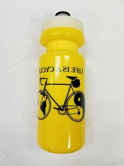 Life Is a Cycle Water Bottle Yin Yang Bicycle Design Hydrati