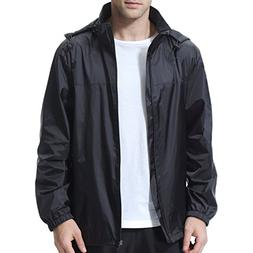beroy Men Lightweight Windproof Waterproof Jacket with Mesh