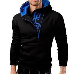 Men's Long Sleeve Hoodie Hooded Sweatshirt Tops Jacket Coat