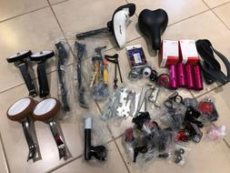 Lot of New Replacement Bicycle Parts-Seats/Kickstands/pegs/t