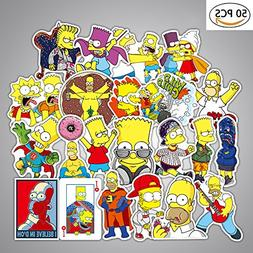 Debon Luggage Tags Stickers The Simpsons Family Sticker Deca