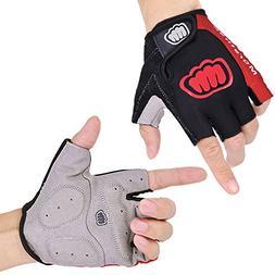 Morethan M1701 Cycling Gloves for Men Half Finger Gel, Breat