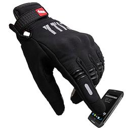 Madbike Stealth Hard Knuckle Motorcycle Gloves Touch Screen