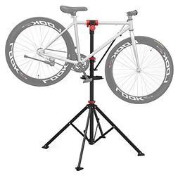 SONGMICS Pro Mechanic Bike Repair Stand with Tool Tray Teles