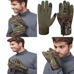 Mens Windproof Touchscreen Gloves Winter Outdoor Cycling Mot