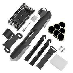 Mini Bike Frame Pump with Multi Function Repair Tools Kit Bi