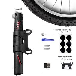 luloo Mini Bike Pump with Tire Repair Patches,Fits Presta an
