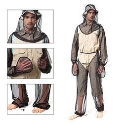 Sanmum Mosquito Suit, Outdoor Lightweight Unisex Head Body M