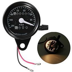 CoCocina Motorcycle Dual Odometer Speedometer Mechanical Gau