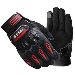 Motorcycle Gloves Unisex Breathable Leather Full Finger Touc