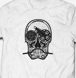 Mountain Bike Parts Skull 100% Cotton Premium Unisex T-shirt