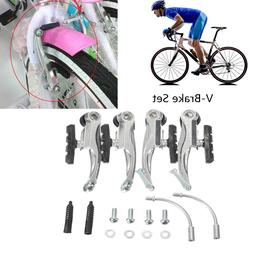 2Pcs Bicycle Bike Dual Pull Front//Rear Brake Lever Set For Hybrid//Comfort Bike