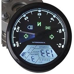 IZTOSS MPH/KMH 124MPH/199kmh 12000 rpm LCD Digital Speedomet