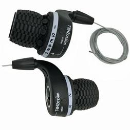 Microshift MTB Bike Bicycle Twist Grip Gear MS25-6 Shifters