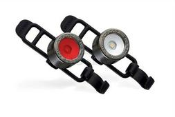 Cateye Nima-2  Bicycle Light Combo, Front & Rear