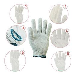 MeanHoo Pack of 5 Pairs Work Gloves Elastic Cuff Factory Ind