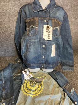 Parts By Machine Clothing Co. Men's Demin Jacket Moto Bike